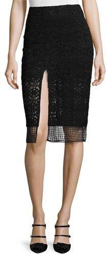 Alexis Oli Lace Slit Pencil Skirt