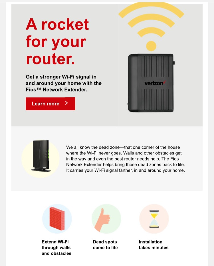 We love Fios because not only does Fios provide the newest and most choices in programming but it will help you receive this programming by optimizing your Wi-Fi.