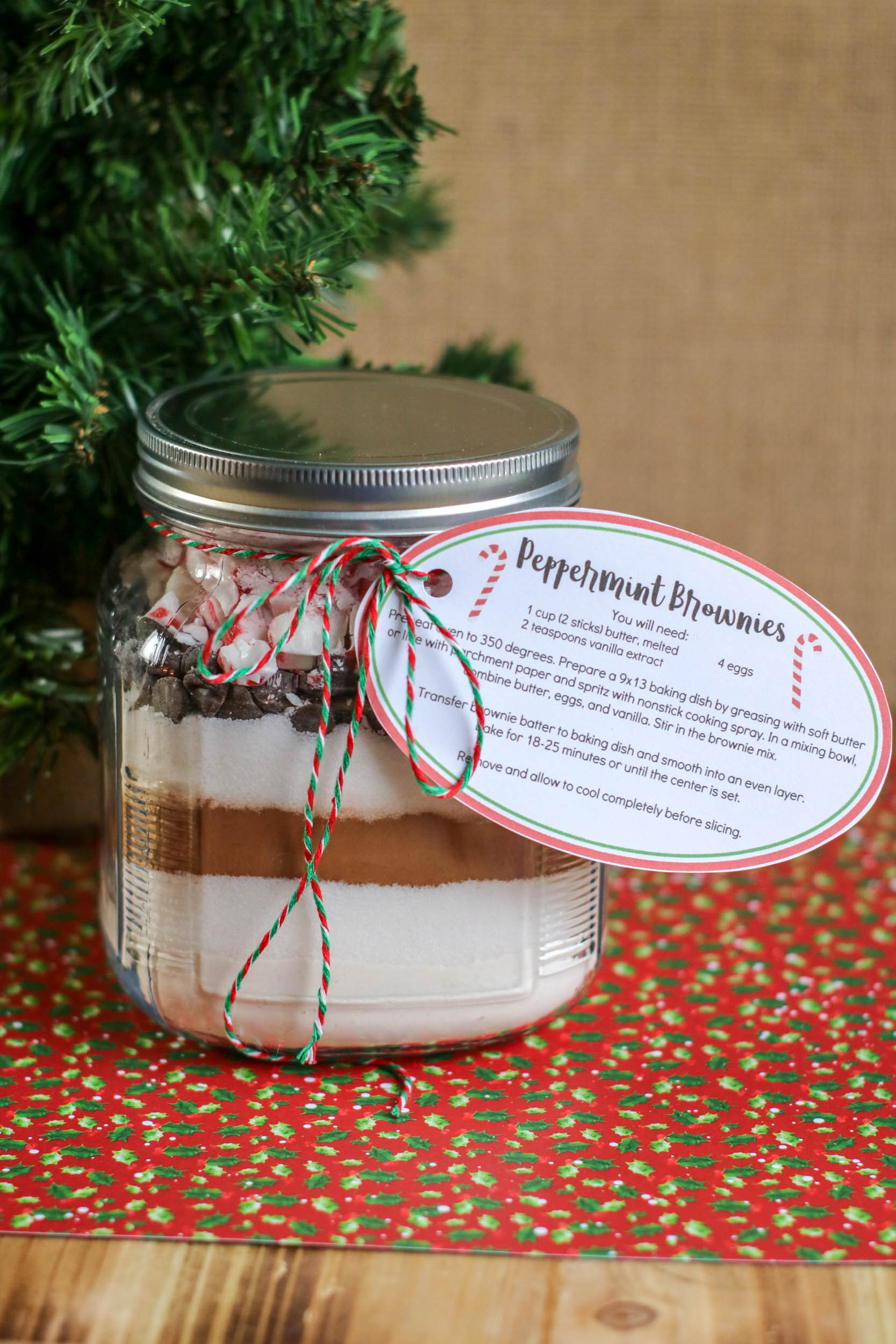 DIT peppermint Brownies in a Jar