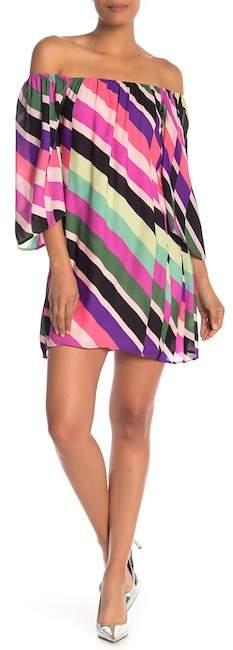 Trina Turk Springy Patterned Silk Shift Dress