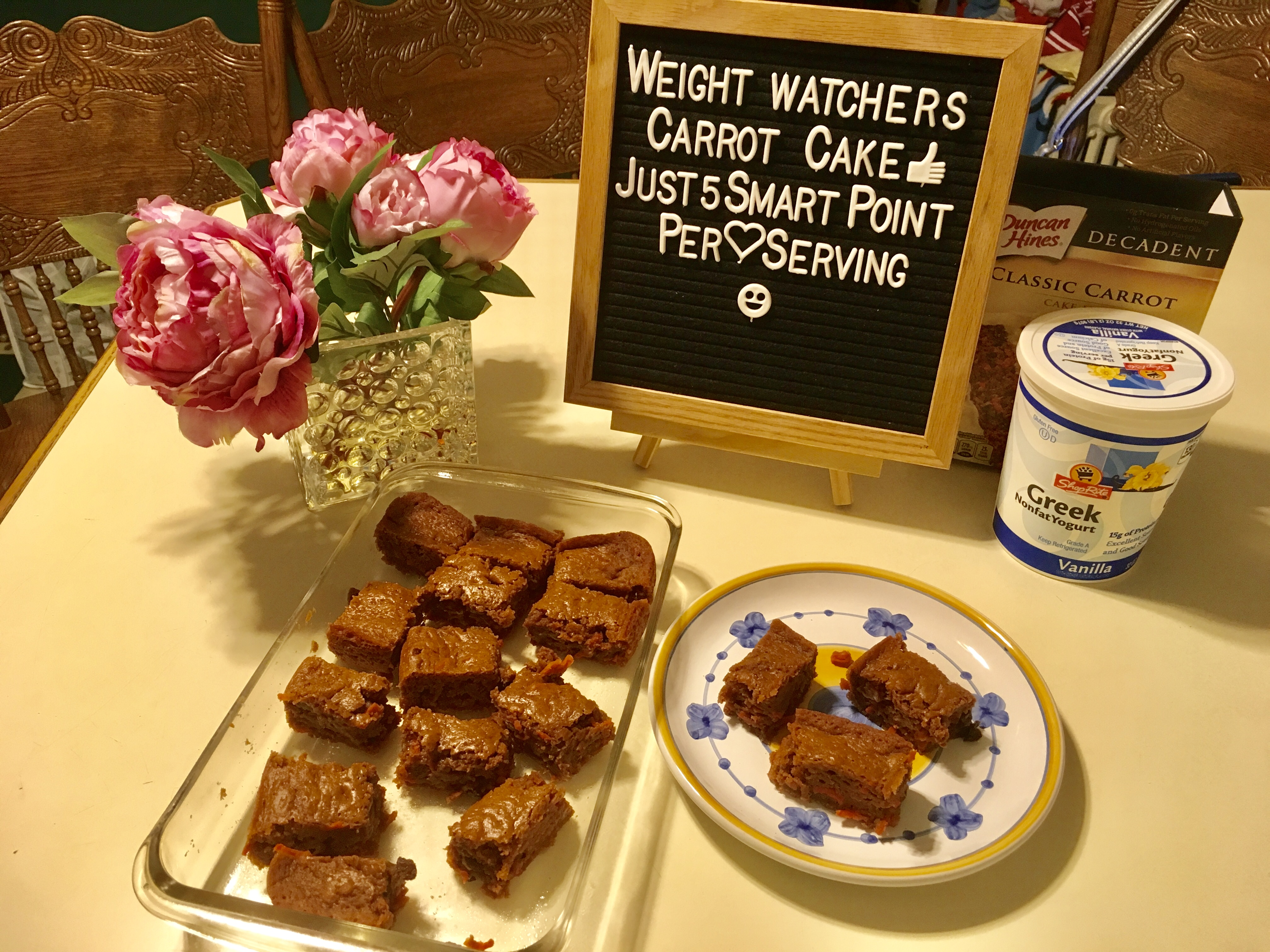 Kid approved Weight Watchers Carrot Cake Just 5 smart point per serving