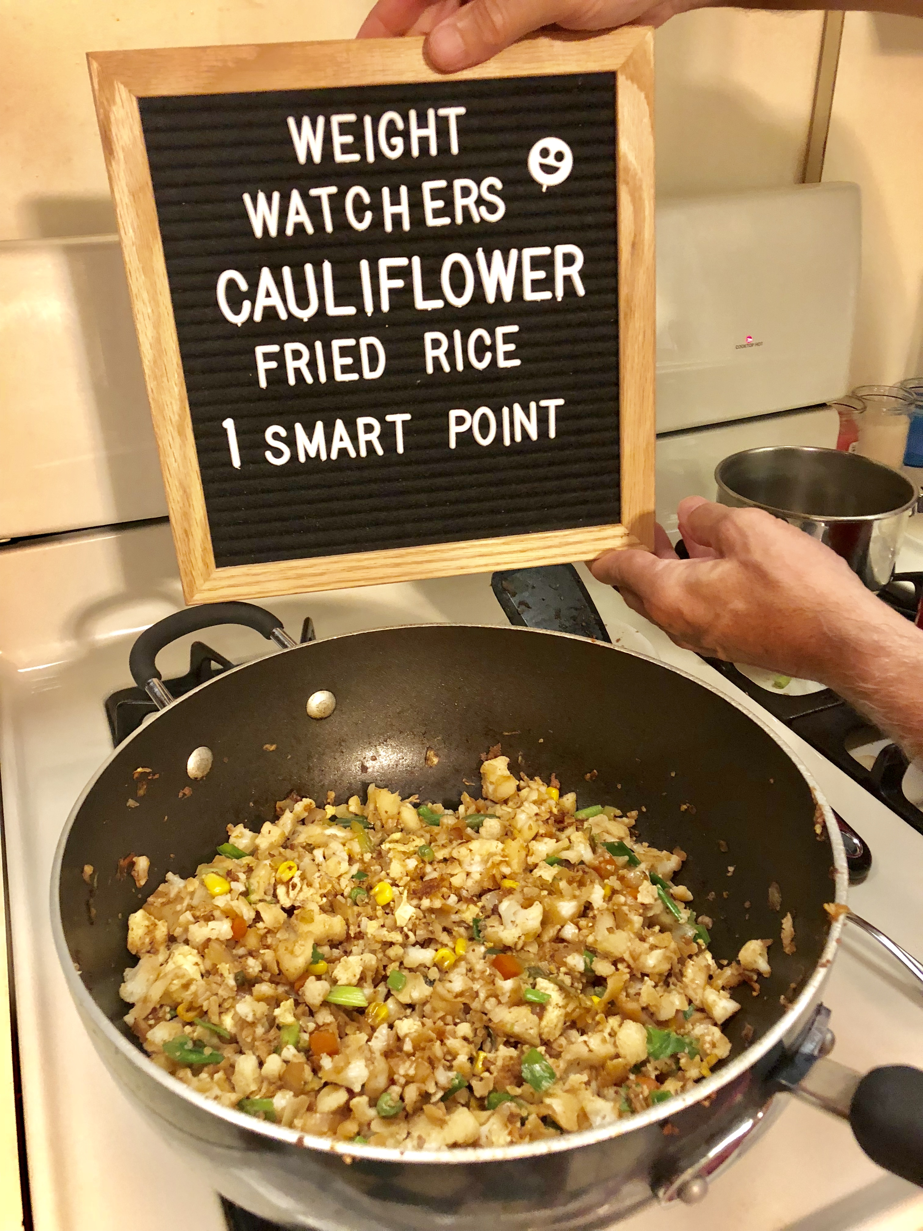 Weight Watchers Cauliflower Fried Rice 1 Smart Point per serving