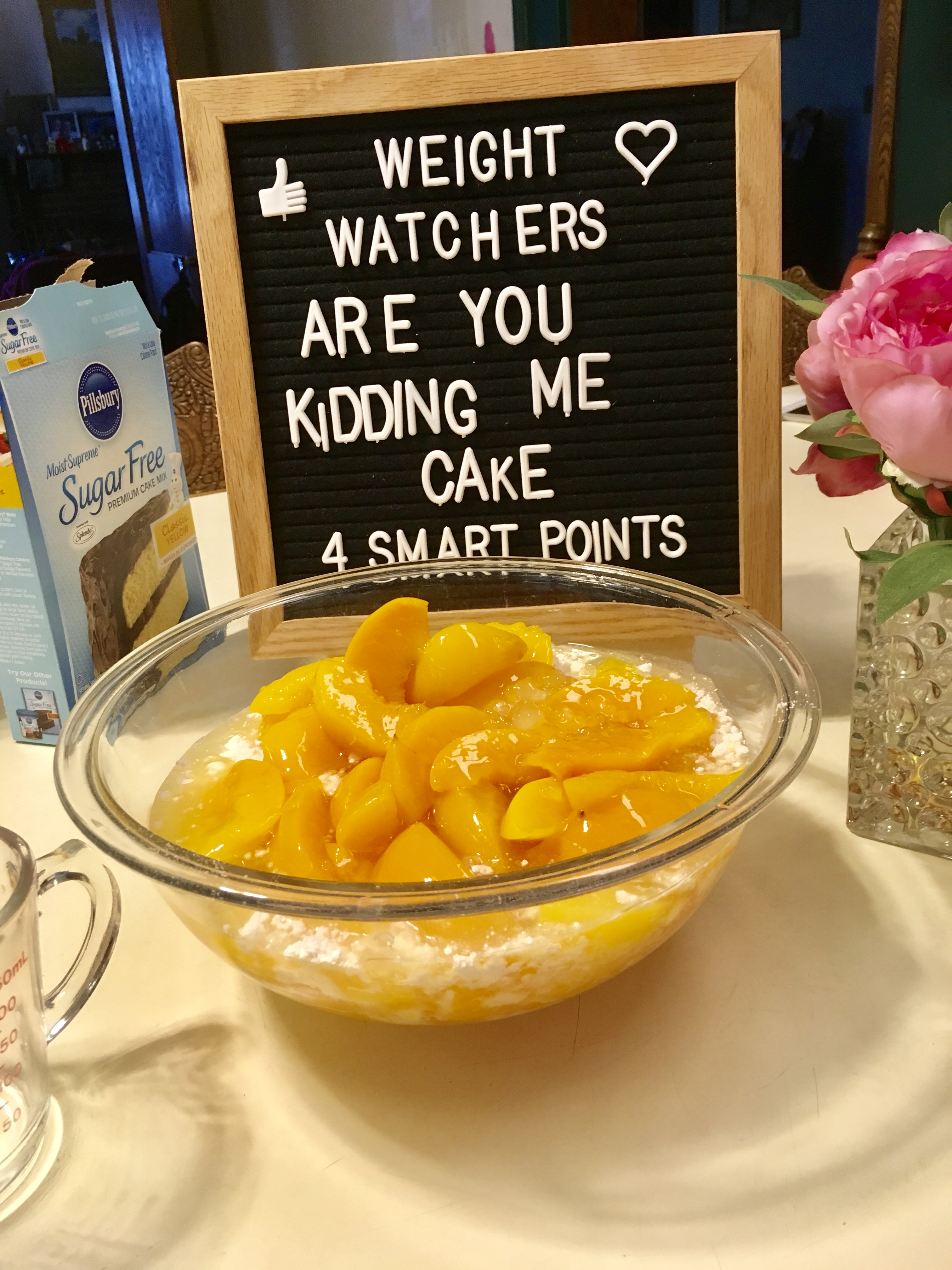 Are you kidding me cake Weight Watchers Style