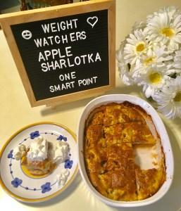 Apple Sharlotka is the Quintessential Fall Recipe and just one smart point per serving on Weight Watchers