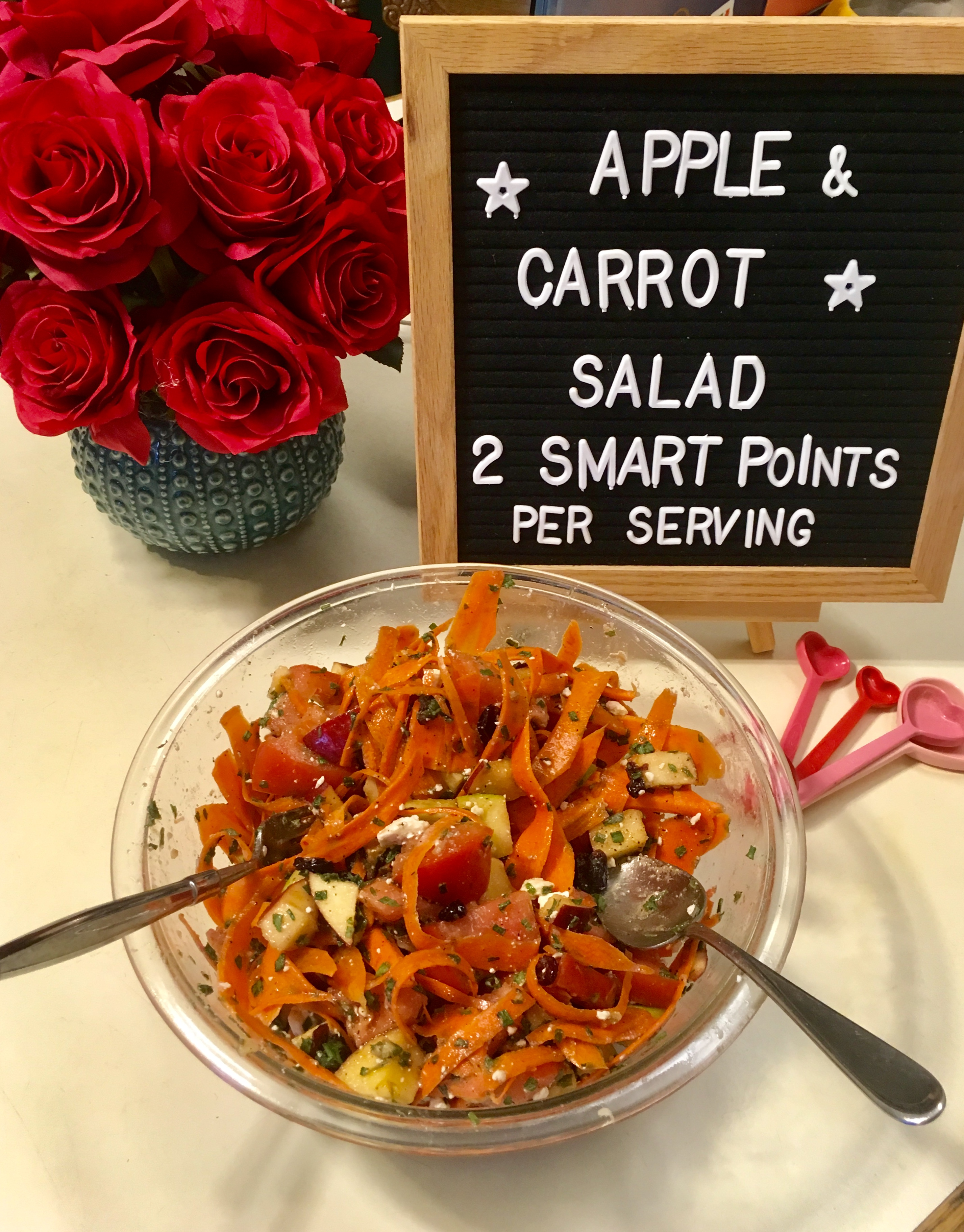 Apple and Carrot Salad just 2 smart points per serving recipe makes 8 servings