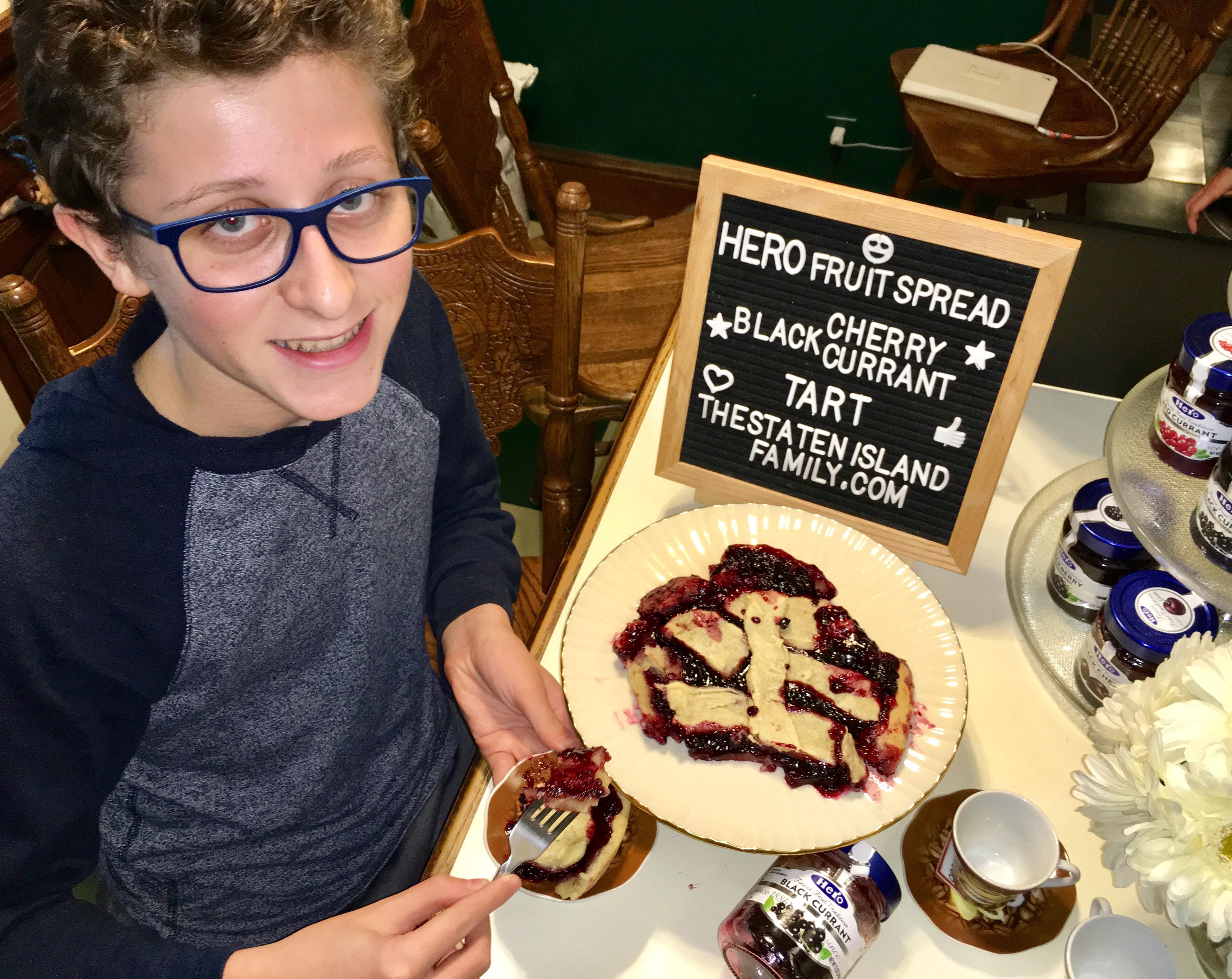 This Vegan Hero Fruit Black Cherry and Black Currant Tart Recipe is EVERYTHING