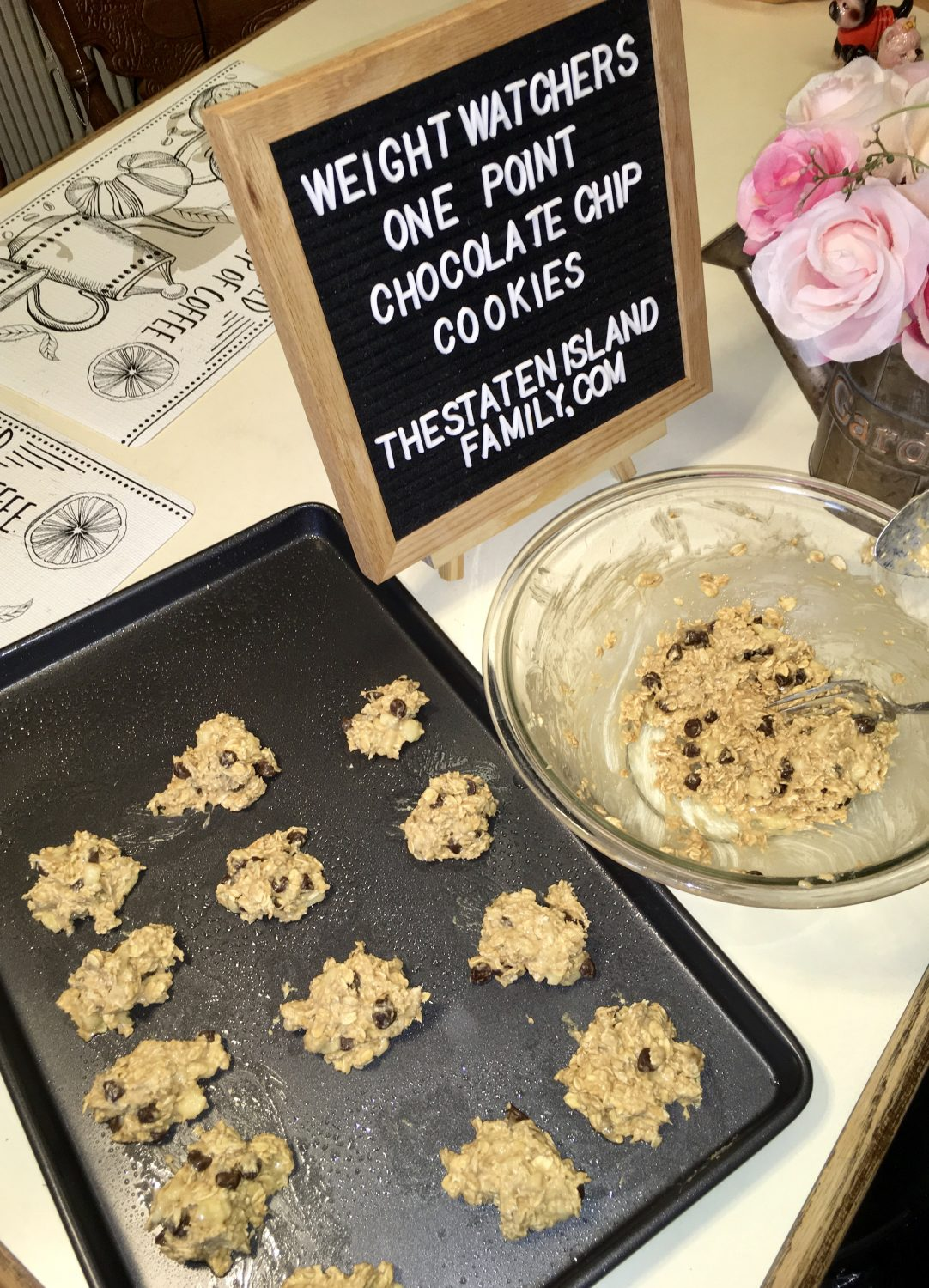 Weight Watchers 1 point chocolate chip cookies