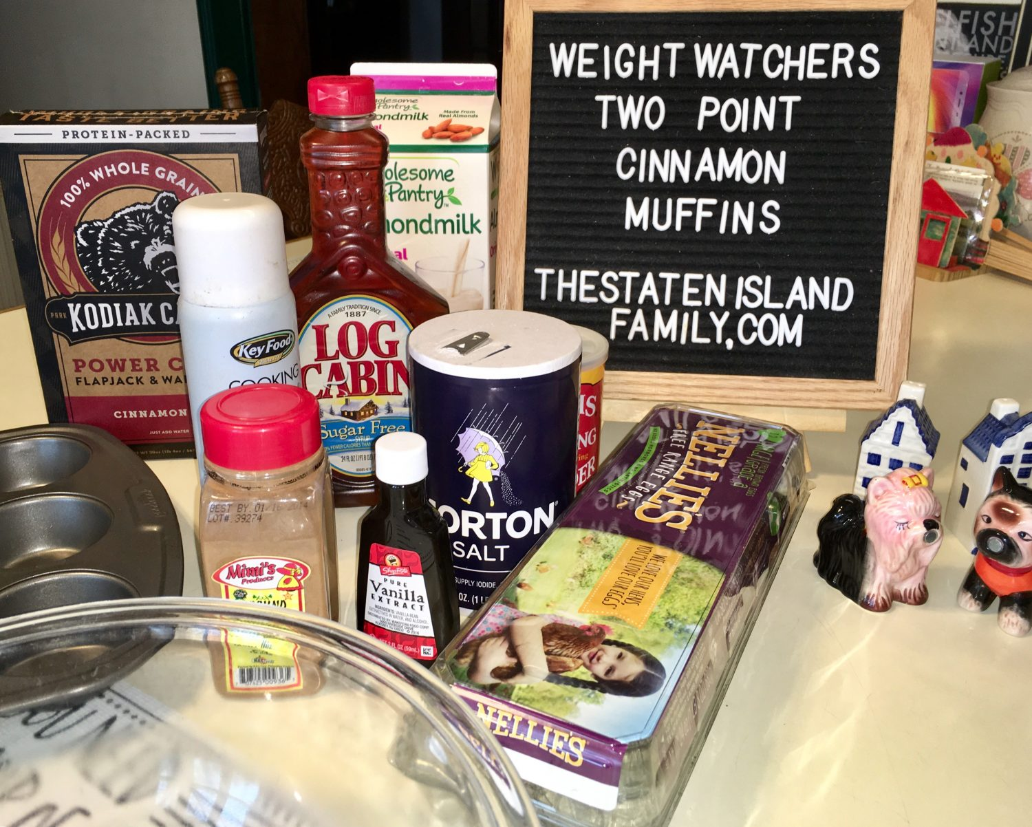 Ingredients for weight watchers muffins
