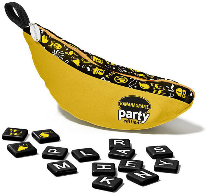 The Re-Gifter, The Thief, Switcheroo, Pouch Head, these are just some of the names of the 14 chaos-inducing Party Power tiles in Bananagrams Party edition. Each tile holds its own special action, allowing the receiving player to bestow chaos on the victim of his or her choice!