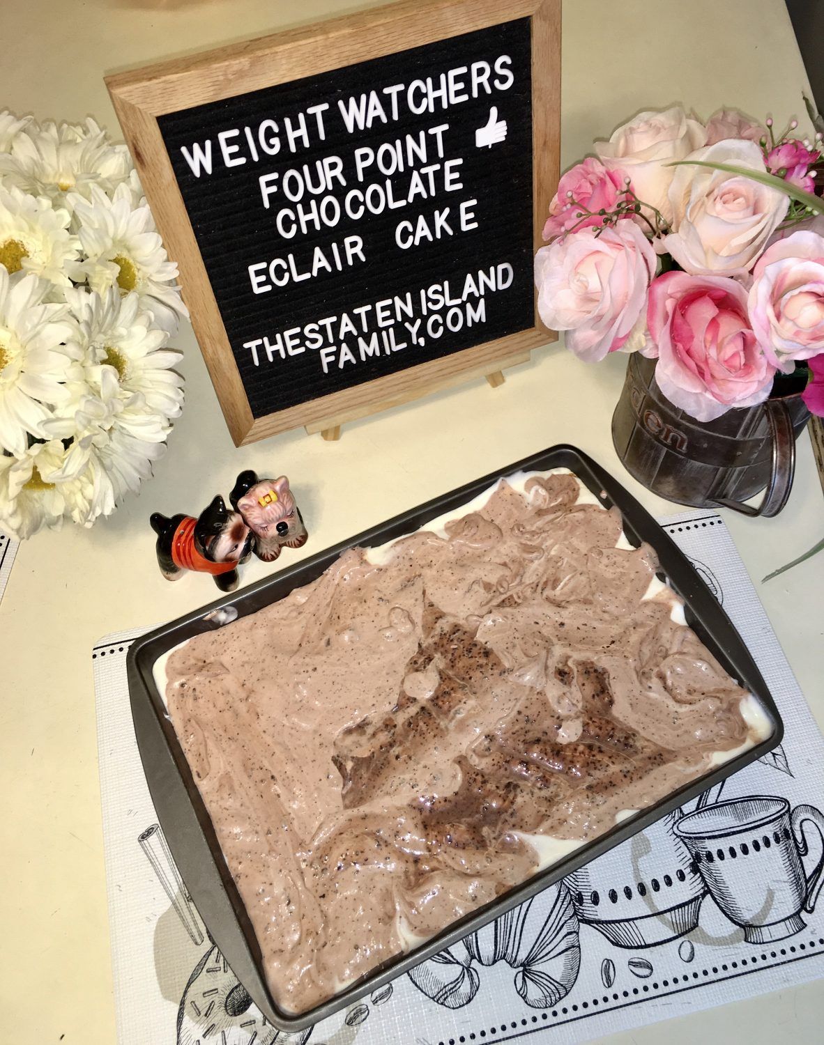 Weight Watchers Chocolate eclair cake