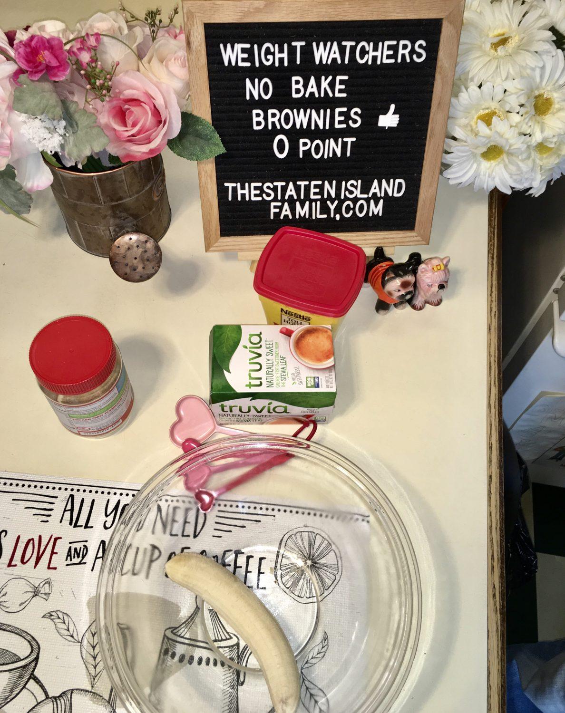 Weight Watchers No Bake Brownies - zero points per serving