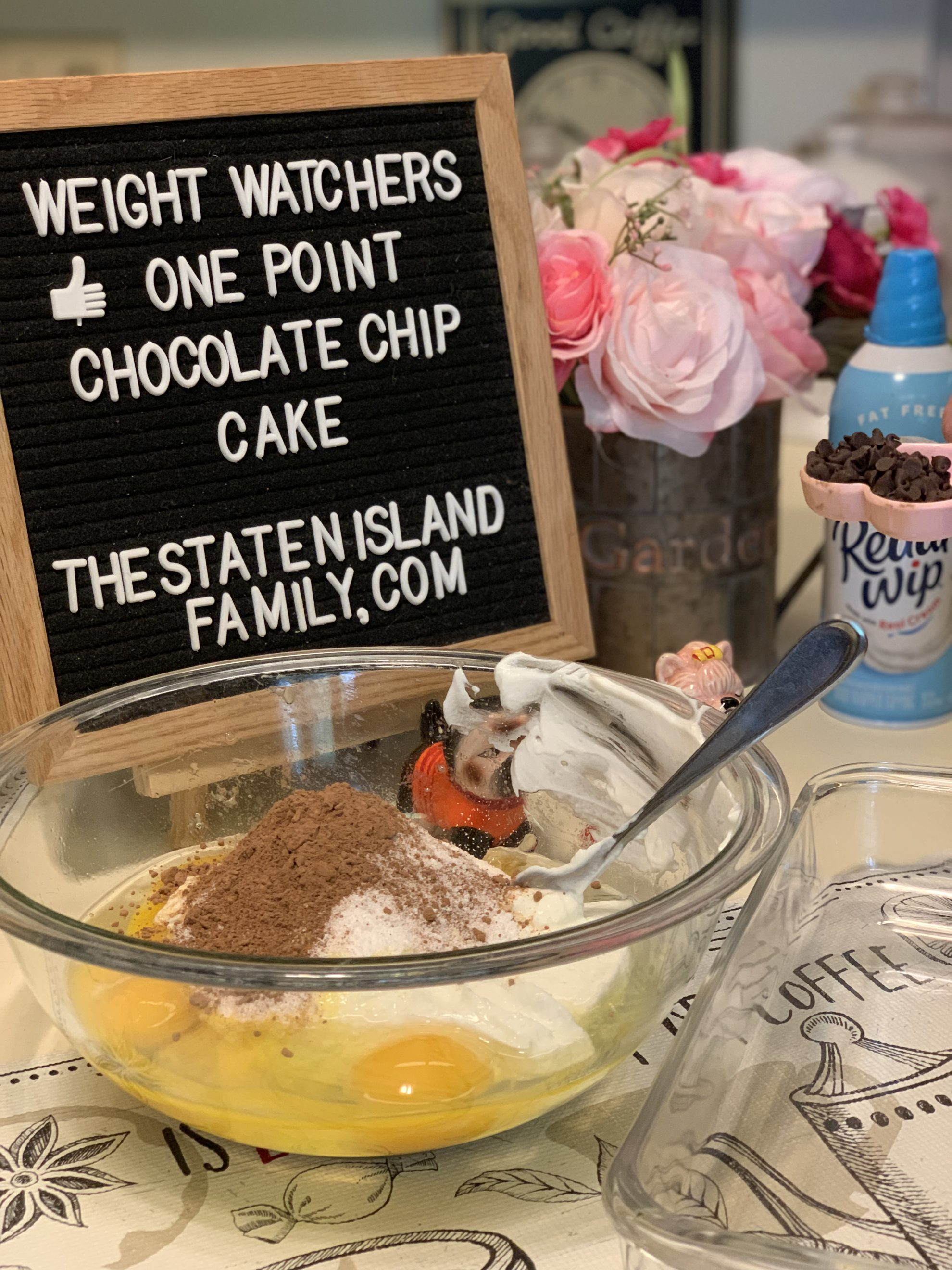 Weight Watchers One Point Chocolate Chip Cake
