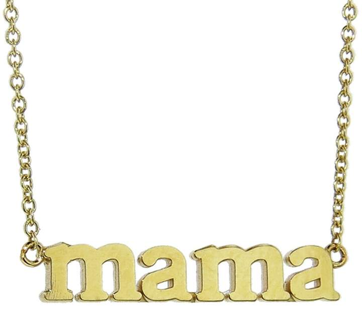 Buy yourself This TOKEN OF LOVE -- This Mama necklace is the perfect everyday glitz for you stylish Mama's. Perfect for layering. Handcrafted in 18-karat yellow gold.