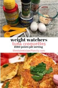 Weight Watchers Tuna Croquettes Zero points per serving
