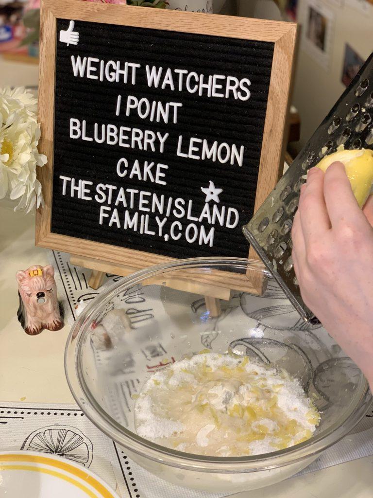 Weight Watchers 1 point blueberry lemon cake