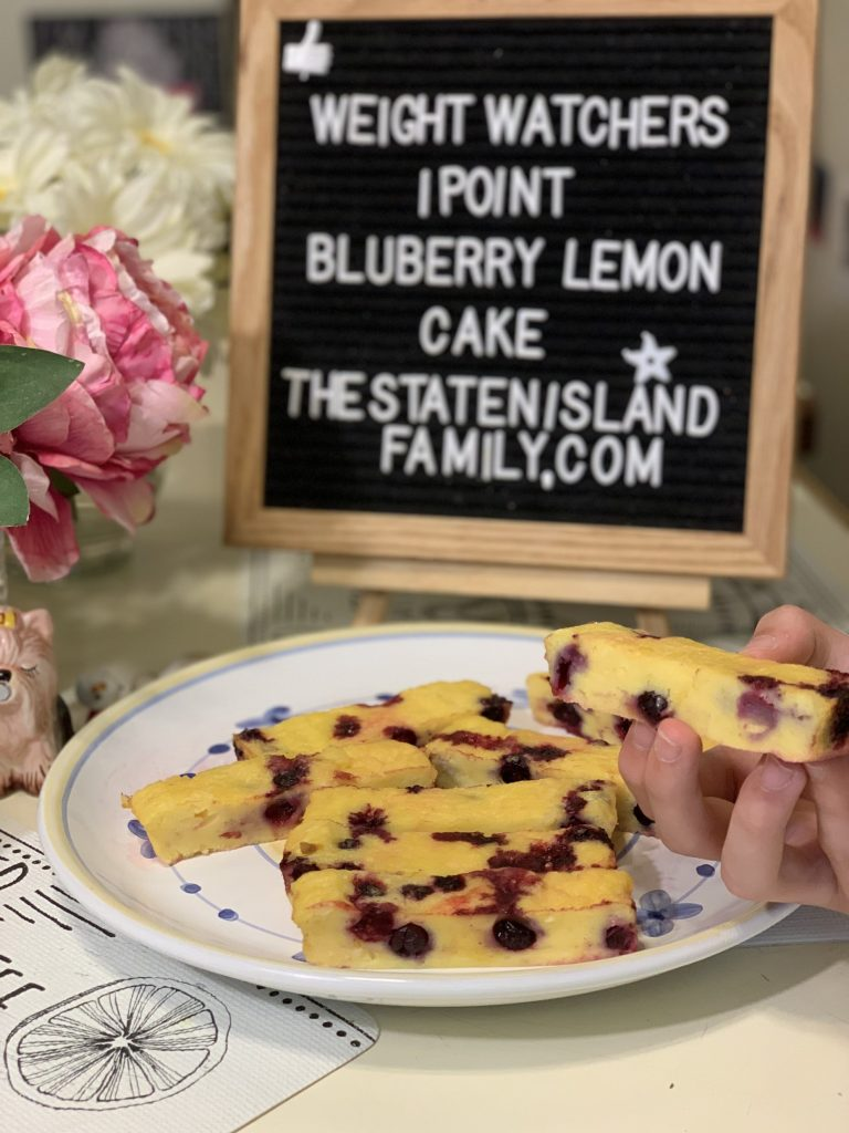 Weight Watchers 1 point blueberry lemon cake
