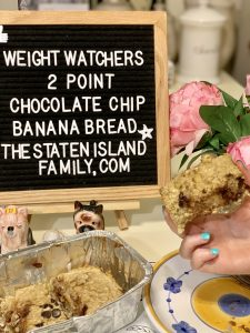 Weight Watchers Chocolate chip Banana Bread two points