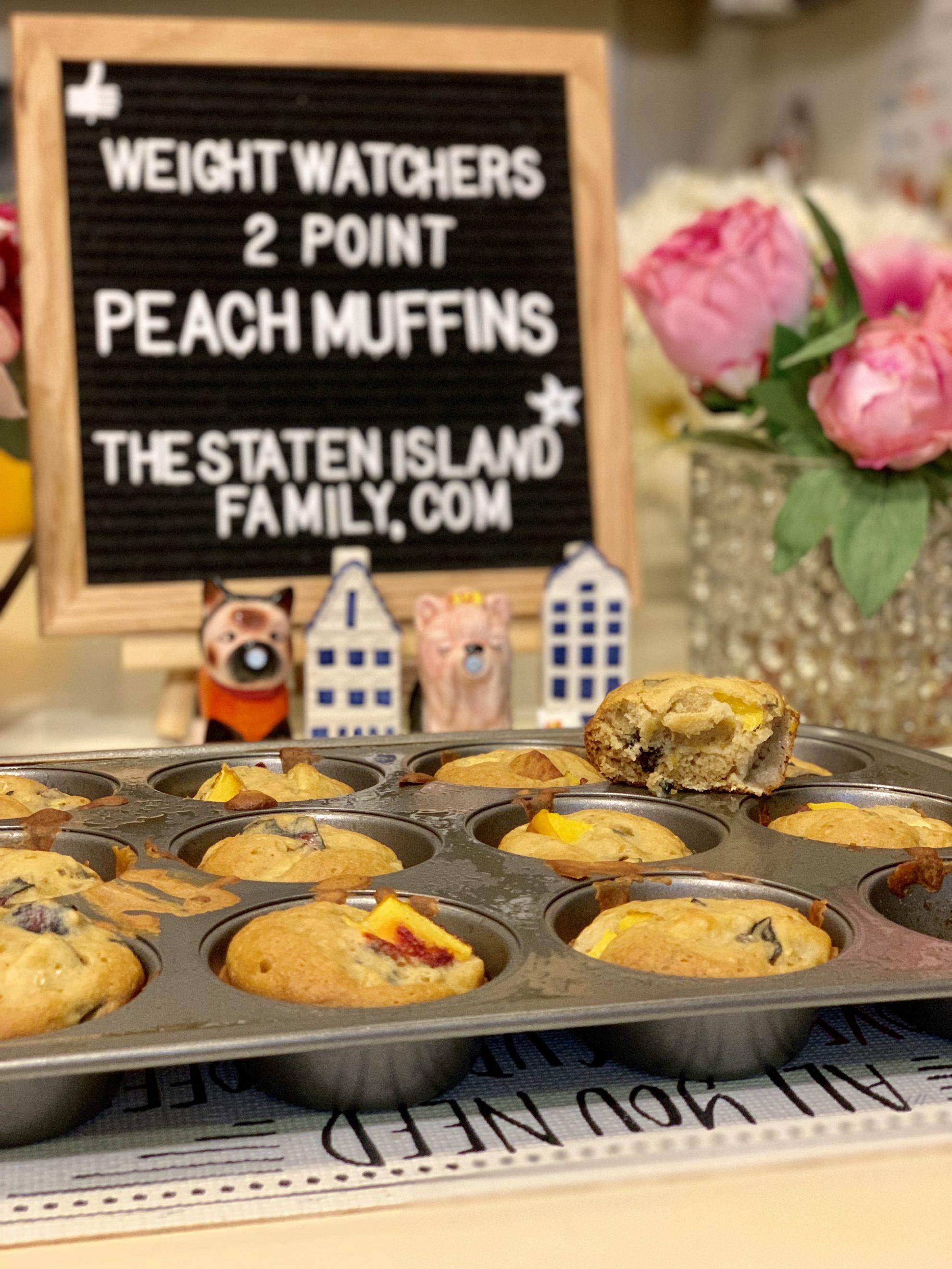 Weight Watchers Peach Muffins