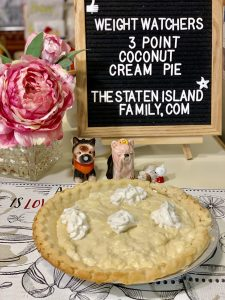Weight Watchers Coconut Cream Pie - Just three points per serving
