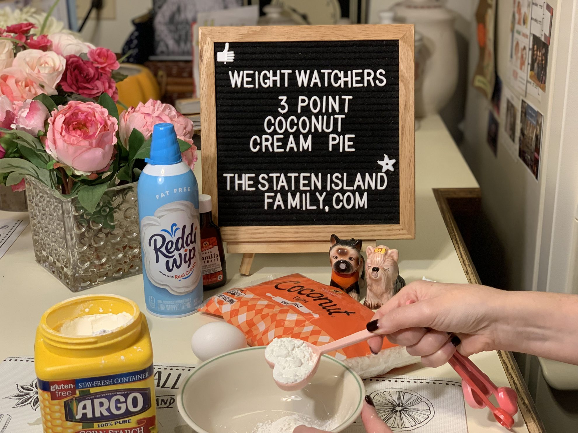 this Weight Watchers Coconut Cream Pie - is Just three points per serving (the entire pie makes 12) it is delicious and decadent! https://www.thestatenislandfamily.com/weight-watchers-coconut-cream-pie/