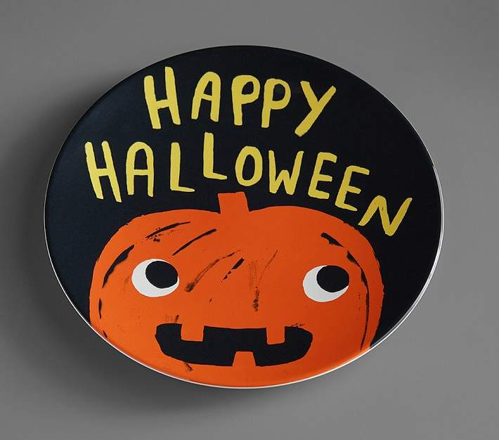 It's eerie how wickedly whimsical, magically practical, yet spellbindingly affordable this set of plates that glow in the dark! Decorated with classic Halloween icons, they're crafted from sturdy, kid-friendly melamine and are made without the use of any harmful materials so they're safer for mealtime. Plates and bowls are crafted from melamine.