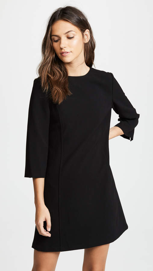 With its minimalist vibe this alice + olivia shift dress with a structured look is a quintessentially Casual date night look.