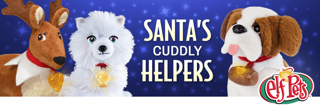 Santa's Elf Pets® are magical animals that play important roles during the Christmas season! Sent straight from the North Pole, these cuddly pets serve as year-round pals to kids, who can hug, love and play with them.