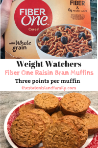 Weight Watchers Fiber One Raisin Bran Muffins