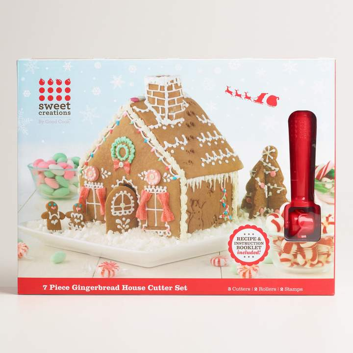 Why We Love It Build mini gingerbread houses with our innovative cookie cutter. Use the included recipe to make, bake and decorate an edible holiday house or to create an entire miniature village.
