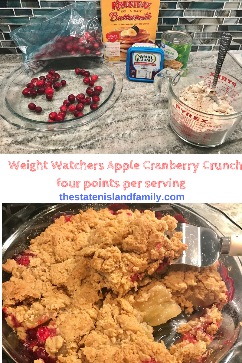 Weight Watchers Apple Cranberry Crumble