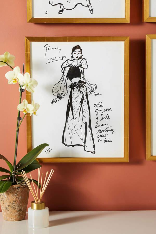 Paris Flea Market For Soicher Marin Fashion Illustration E Wall Art