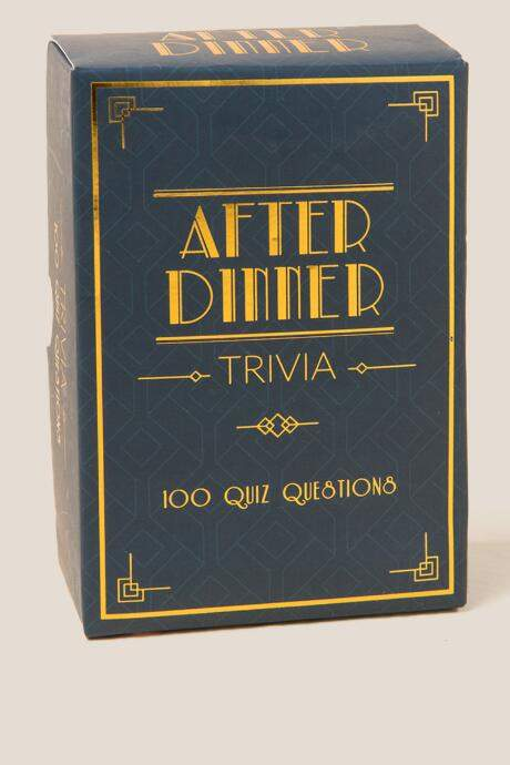 Finished your dinner early? What better way to fill an awkward silence than with some trivia.