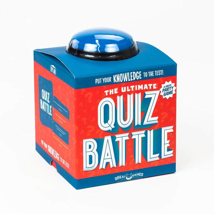 Put your skills to the test against friends and family in this ultimate Professor Puzzle Quiz Battle game! PRODUCT FEATURES Buzzer, batteries, dice, trivia cards, included Hard case Includes 240 challenging questions on the arts, history, tv & film, food, celebrities, general knowledge.