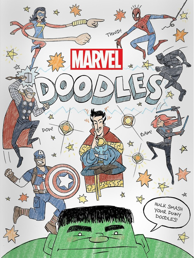 Kids can draw, color, and create with all their favorite characters from the Marvel Universe. From Captain America to Spider-Man, every page is packed with doodles. Readers use their artistic powers to bring these sensational scenes to life!