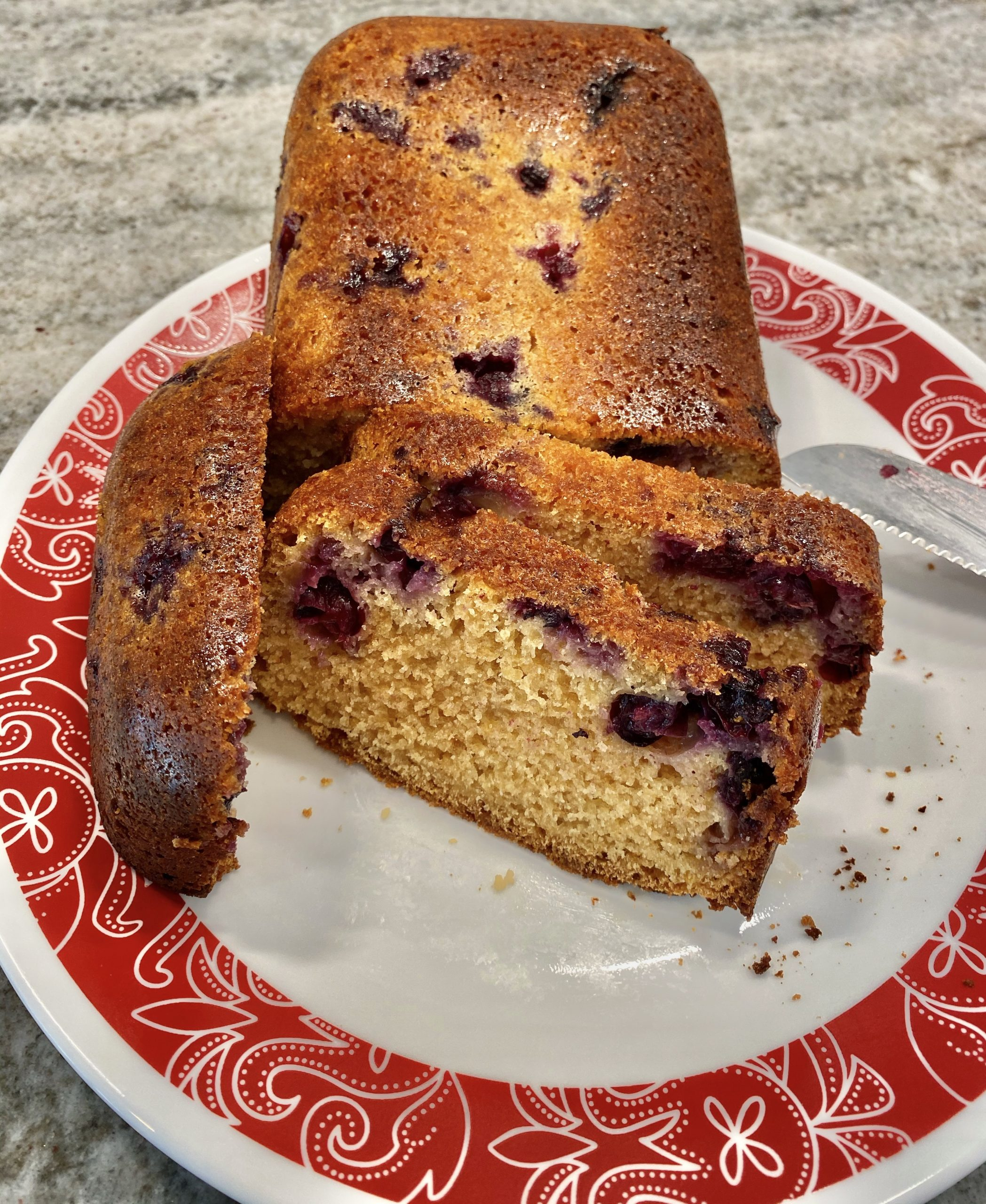 This Lemon Blueberry Cobbler /Cake is delish – Three Points Per Serving on Weight Watchers Blue and the recipe makes 12 slices! https://www.thestatenislandfamily.com/lemon-blueberry-cobbler/