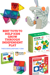 The Best Toys to help kids Grow Through Independent Play