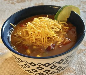 Instant Pot Set it and forget it Taco Soup -Zero points on Weight Watchers Blue