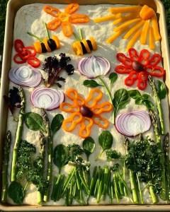 Spring Focaccia Art Bread