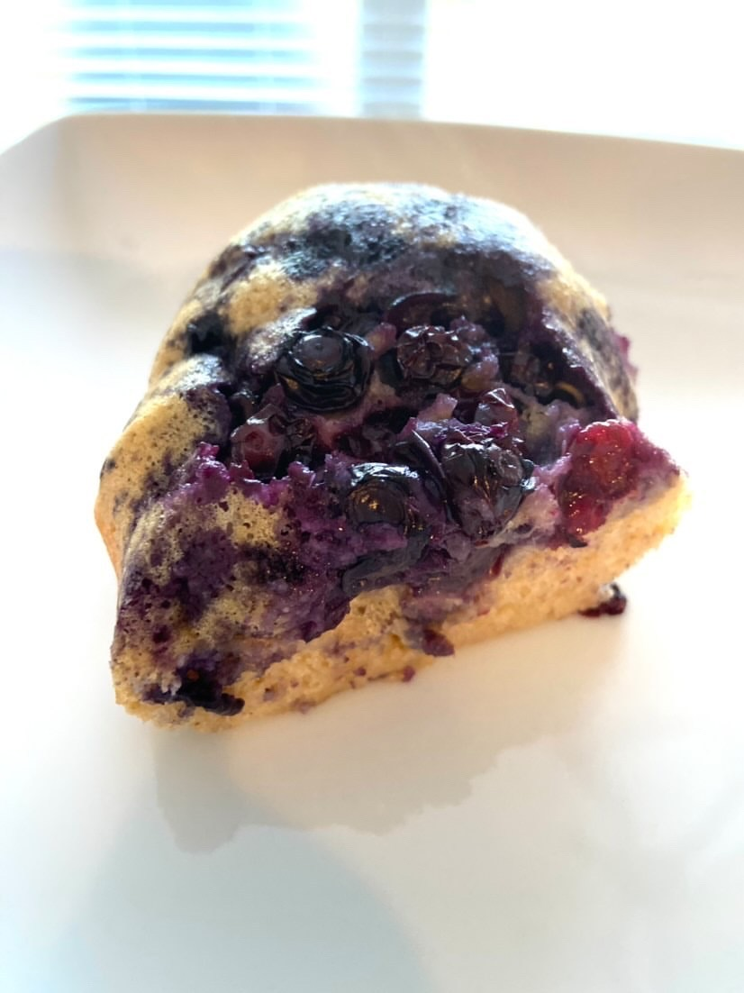 Blueberry Bundt Pancakes - Just three points per serving on Weight Watchers Blue