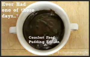 Chocolate pudding captioned