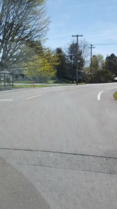 This is another view of where my son started to walk in the middle of the road. The time of day that he did it was after school got out and there were pedestrians, cars, and buses EVERYWHERE.