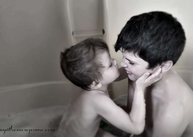 memories of brothers in bath tub
