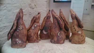 make a clay hare workshop