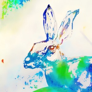Watercolour Hare by Julie Steel The Steel Rooms