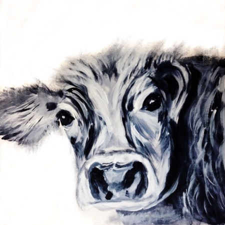 Blck and White Cow by Julie Steel