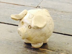 The Steel Rooms make a clay pig workshop
