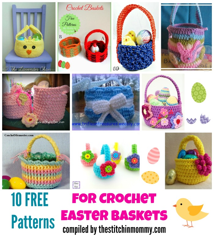 10 free patterns for crochet easter baskets the stitchin mommy 10 free patterns for crochet easter baskets compiled by the stitchin mommy negle Gallery