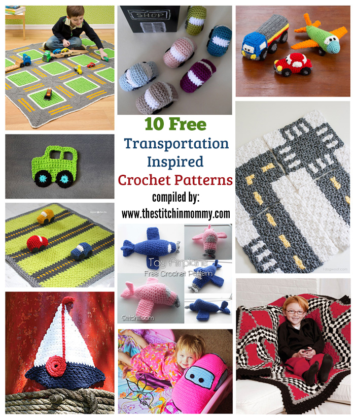 10 Free Transportation Inspired Crochet Patterns The Stitchin Mommy