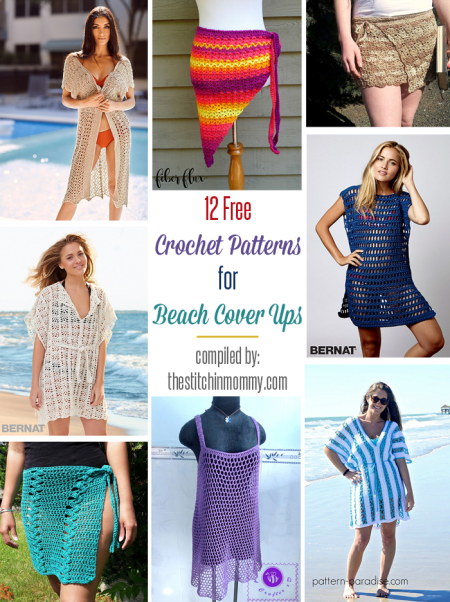 7799b4e49610c 12 Free Crochet Patterns for Beach Cover Ups compiled by The Stitchin'  Mommy | www