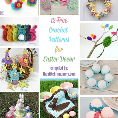 12 Free Crochet Patterns for Easter Decor